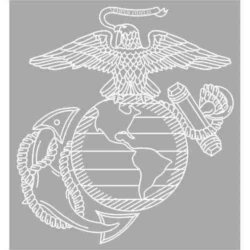 marine corps eagle globe anchor jumbo vinyl transfer
