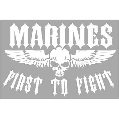 marine corps first to fight jumbo vinyl transfer