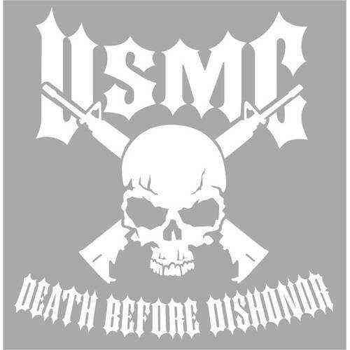marine corps death before dishonor jumbo vinyl transfer