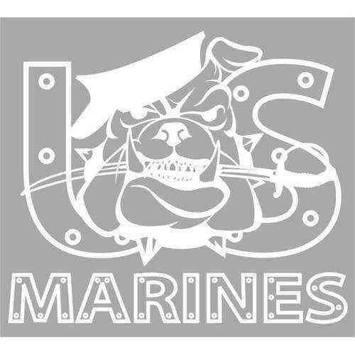 us marines bulldog jumbo vinyl transfer