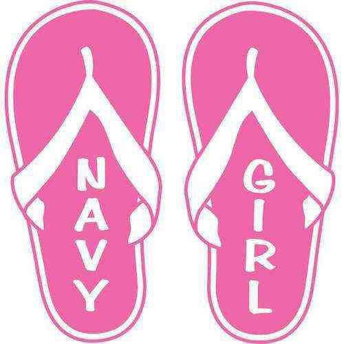 navy girl flip flop vinyl transfer