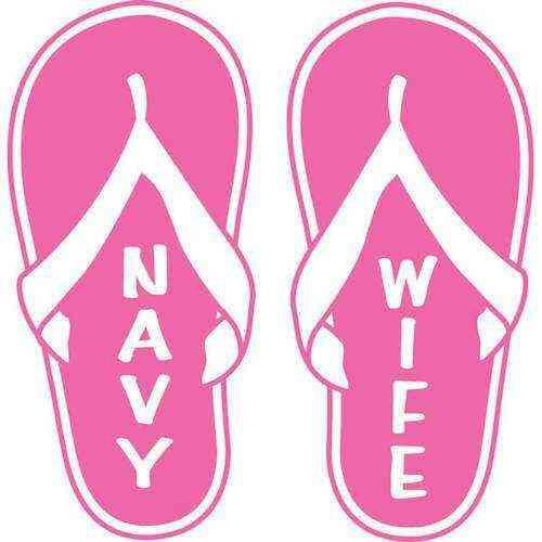 navy wife flip flop vinyl transfer