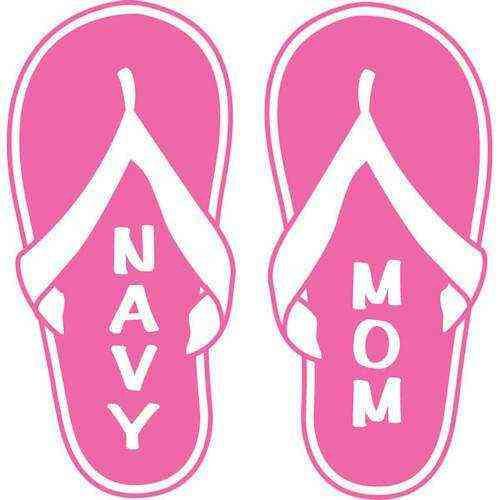 navy mom flip flop vinyl transfer