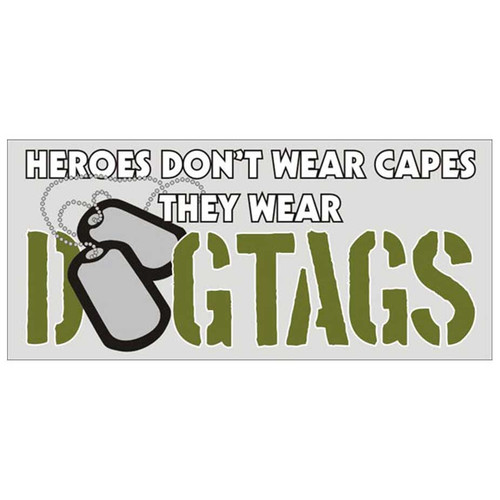 heroes wear dog tags decal