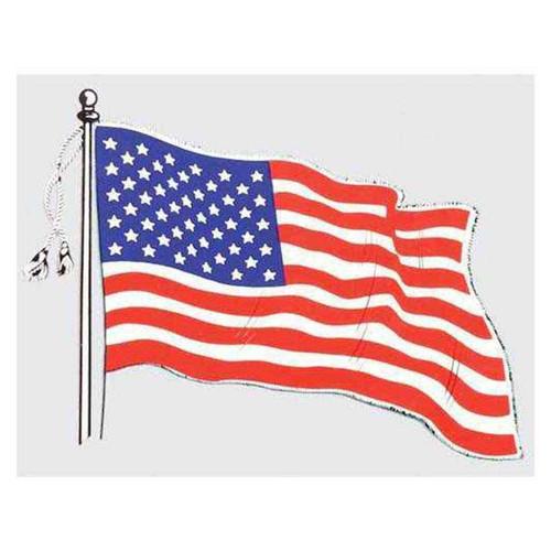 usa wavy flag decal
