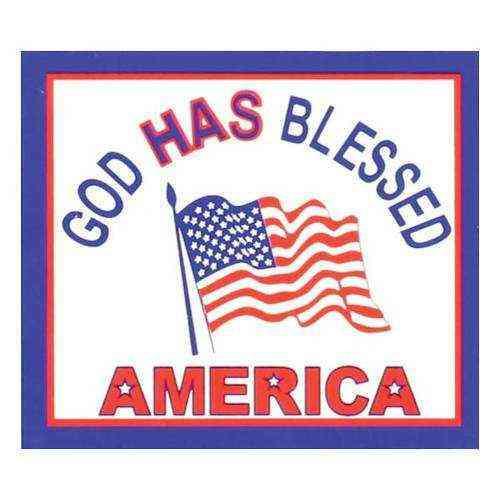 god has blessed america sticker