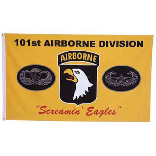 army 101st airborne division screamin eagles flag
