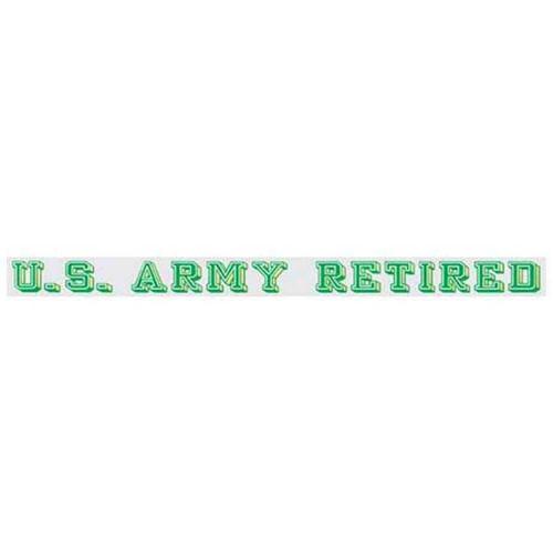 u s army retired window strip