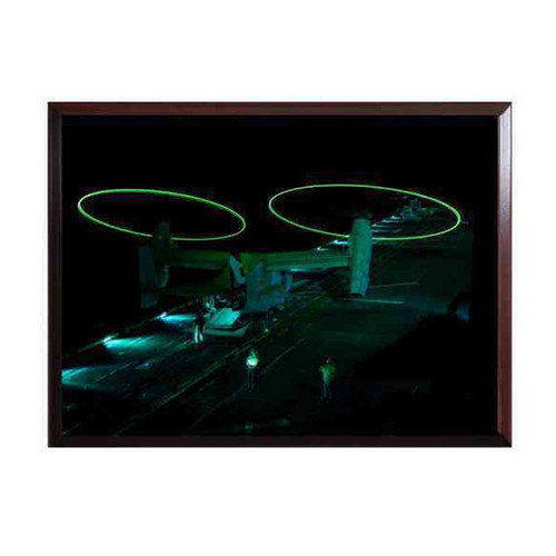 osprey helicopter taking off at night high definition framed photo