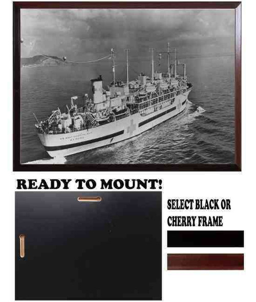 uss repose hospital ship archived framed photo