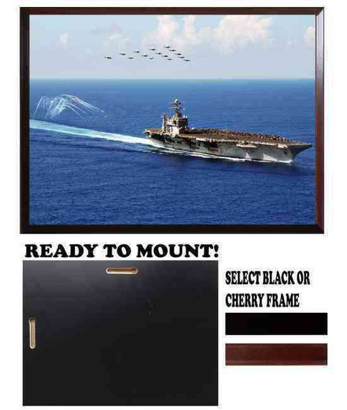 uss abraham lincoln high definition framed photo