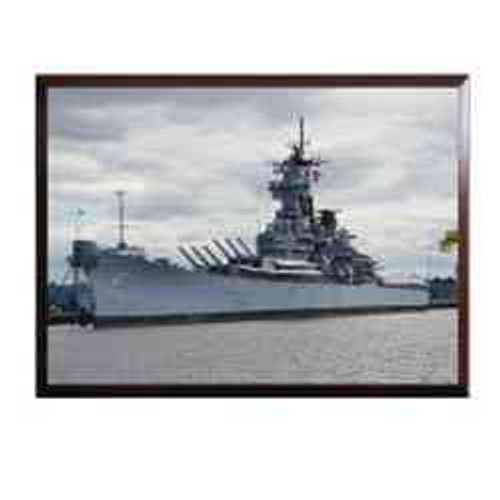 uss new jersey color framed photo