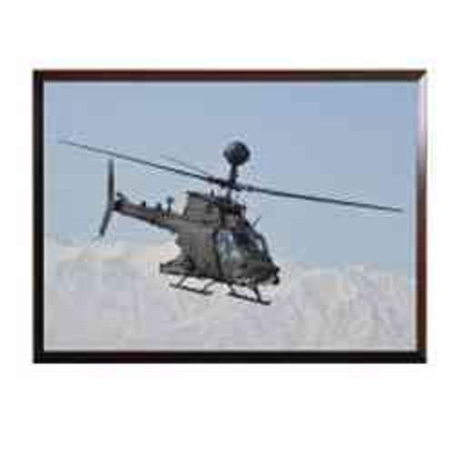 framed photo an army oh58 kiowa helicopter