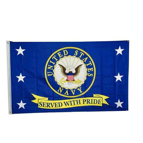 u s navy served pride flag