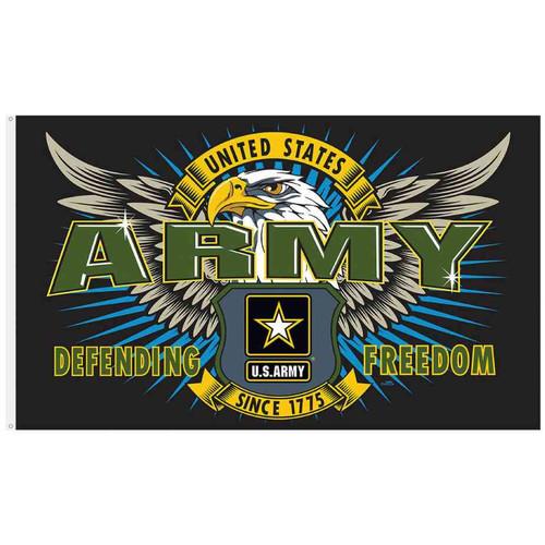u s army defending freedom flag