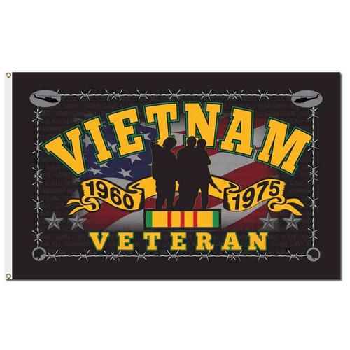 vietnam veteran memorial 3 brothers flag