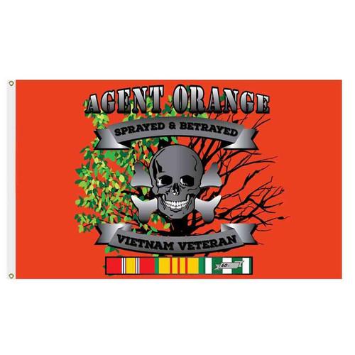 vietnam veteran ribbon agent orange flag