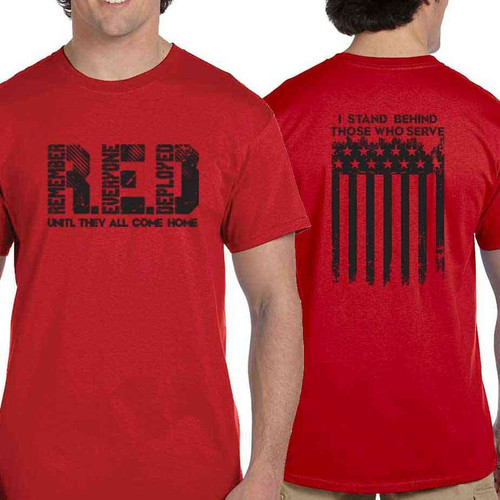 red friday until they all come home t shirt