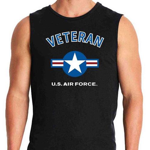 air force veteran sleeveless shirt usaf roundel