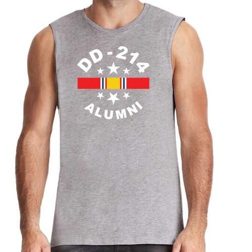 us veteran sleeveless shirt dd214 alumni and national service ribbon