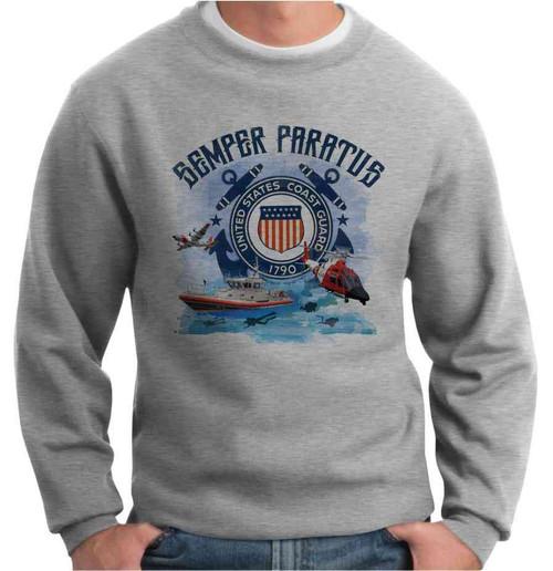 us coast guard semper paratus crewneck sweatshirt
