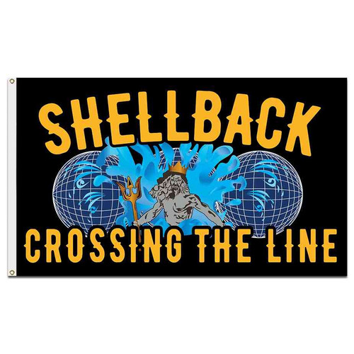 navy shellback crossing line flag
