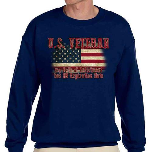 us veteran – navy blue crewneck sweatshirt