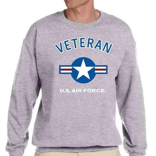 air force veteran crewneck sweatshirt usaf roundel