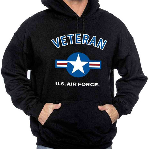 air force veteran hooded sweatshirt usaf roundel officially licensed