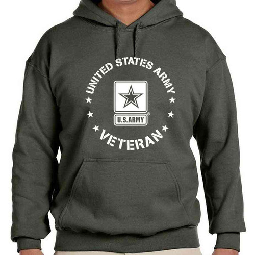 us army veteran hooded sweatshirt us army logo officially licensed