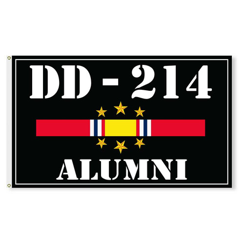 dd214 alumni flag national service ribbon