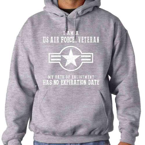 air force veteran hooded sweatshirt oath enlistment and usaf roundel logo