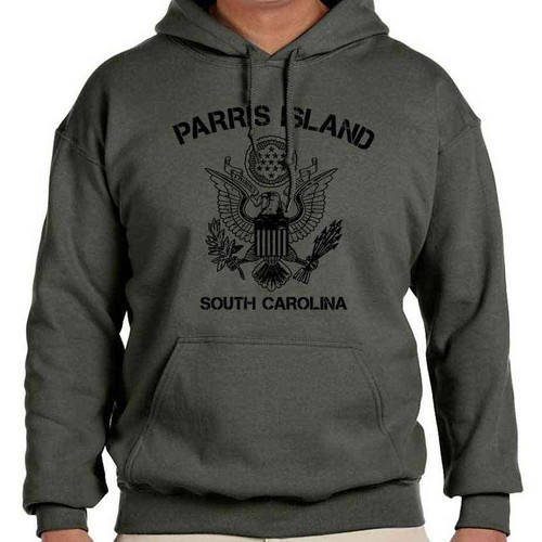 us marines parris island sc hoodie sweatshirt seal united states