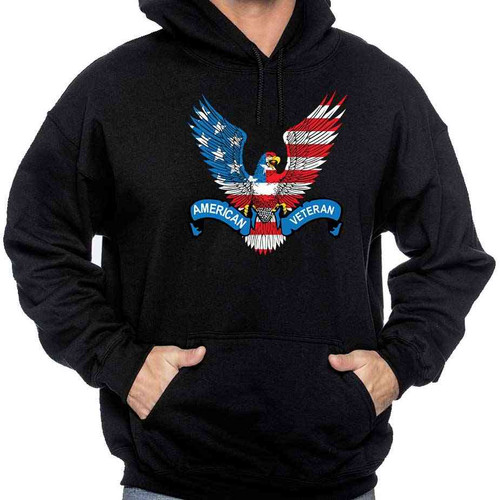 american veteran hoodie sweatshirt us flag eagle
