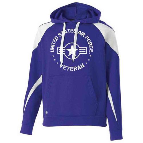 officially licensed us air force veteran hooded sweatshirt usaf roundel logo