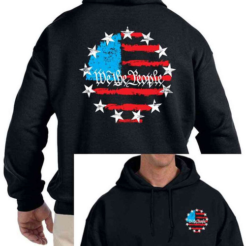 betsy ross 13star hooded sweatshirt american flag