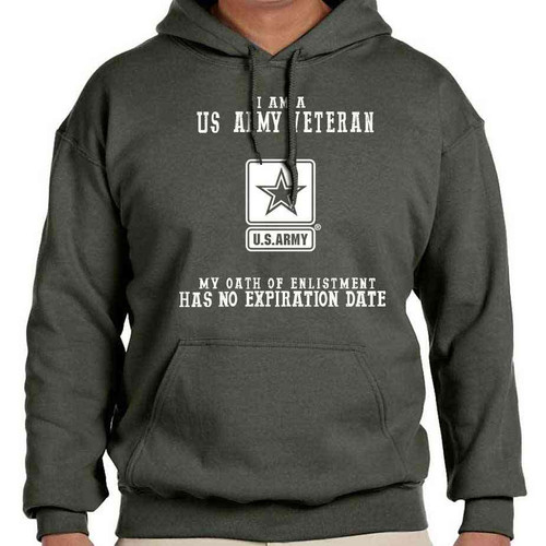 us army veteran hooded sweatshirt oath enlistment and us army logo officially licensed