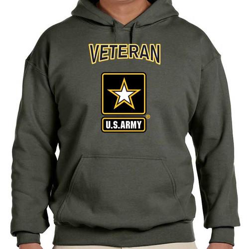 us army hooded sweatshirt army veteran logo