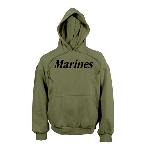 marines p t hooded sweatshirt