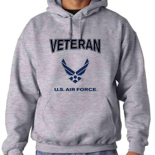 us air force veteran wings logo hooded sweatshirt officially licensed