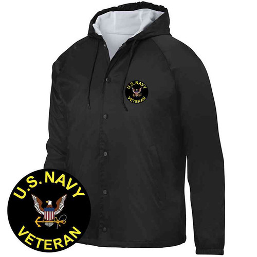 us navy veteran hooded sports jacket