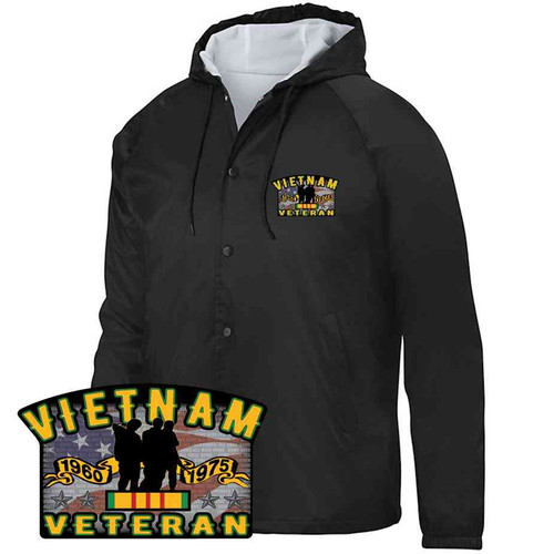 vietnam veteran three brothers hooded sports jacket