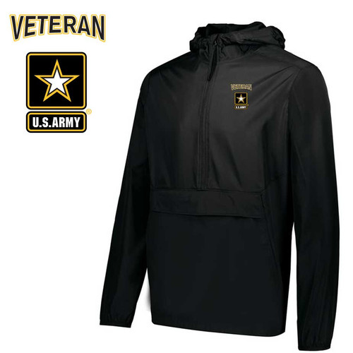 us army veteran embroidered pack pullover jacket army logo