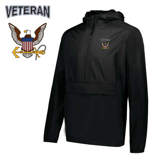 us navy veteran embroidered pack pullover jacket eagle