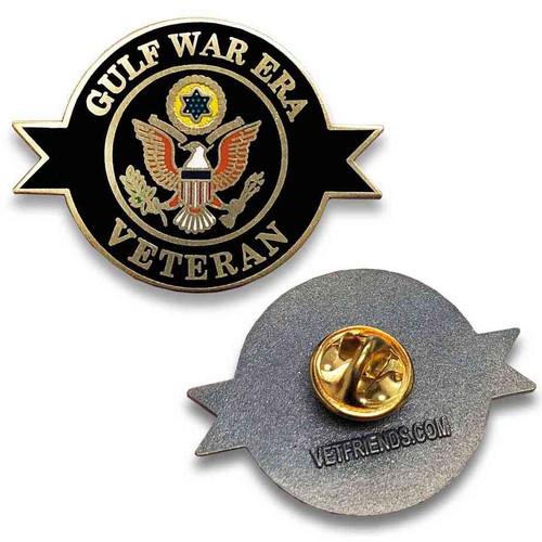 gulf war era veteran custom lapel pin eagle