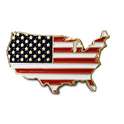 us flag map custom lapel pin