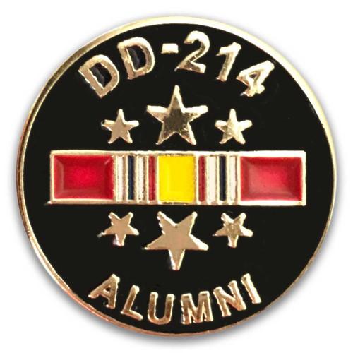us veteran lapel pin dd214 and national service ribbon