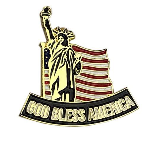 god bless america lapel pin