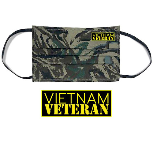 vietnam veteran face mask camouflage and yellow