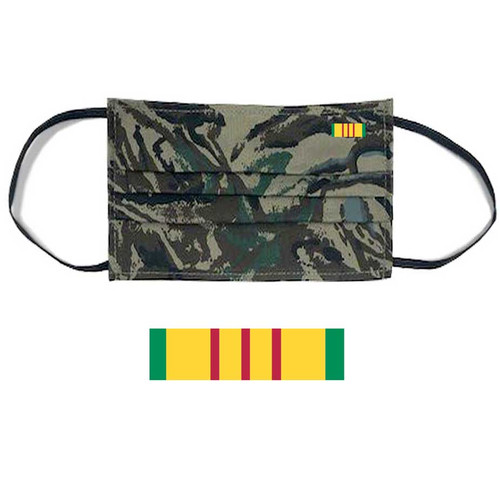 vietnam veteran face mask ribbon and camouflage s